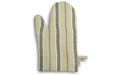 Zielona w paski rękawica kuchenna