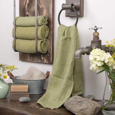 Zielony ręcznik kąpielowy
