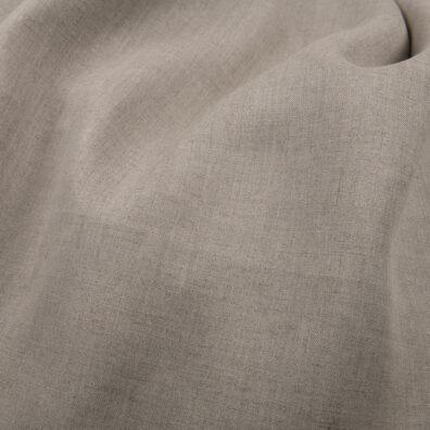 Lniana tkanina niebarwiona szara, szeroka