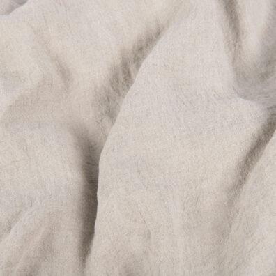 Lniana tkanina jasnoszara, szeroka, prana