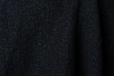 Ciemna żakardowa prana tkanina lniano - bawełniana