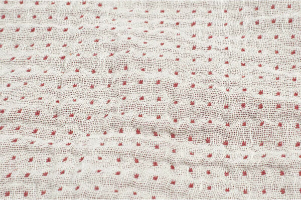 White with red dots / Red with white dots fabric