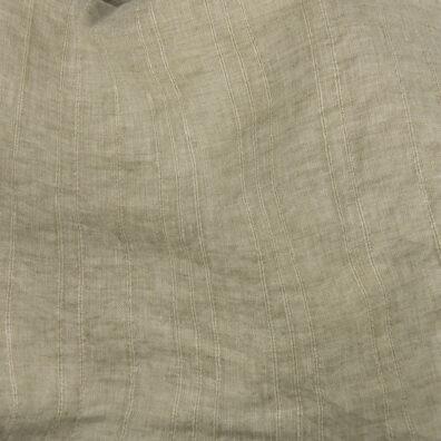 Prana tkanina lniana zielona w wypukłe paski.