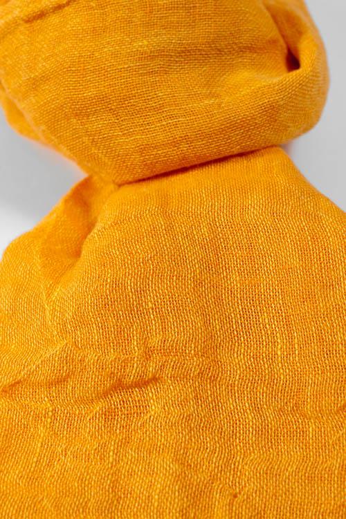 Słonecznikowy szalik lniany.Słonecznikowy szalik lniany.