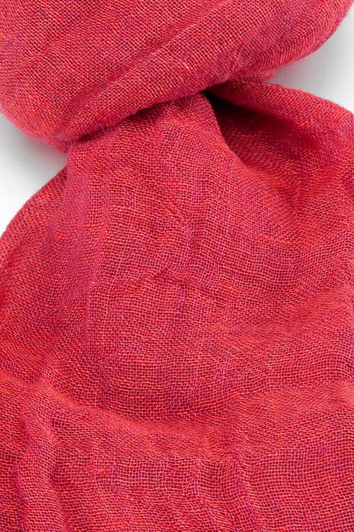 Lniany szalik fioletowy róż.