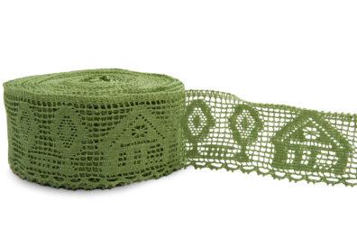 Zielona koronka lniana Nr. 46
