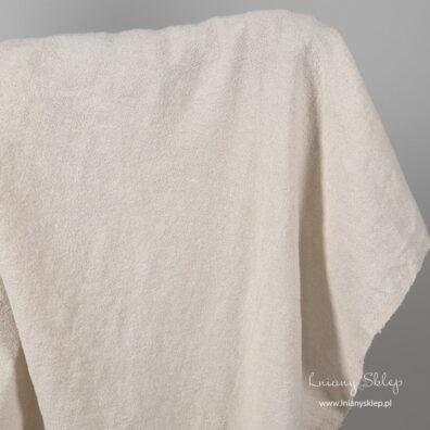 Prana ecru tkanina len z domieszką bawełny.