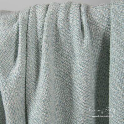 Prana tkanina w zielony wzór len z domieszką.