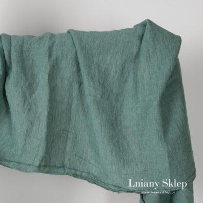 Zielonkawy szeroki prany len.