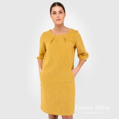 ALFA żółta sukienka.