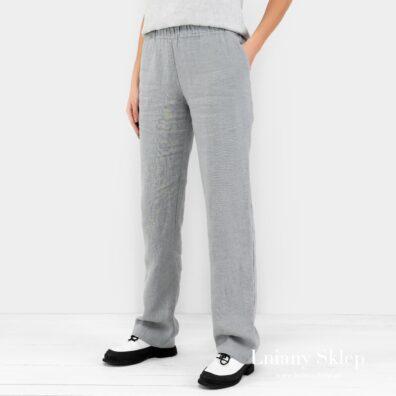 VERONA stalowo szare spodnie.