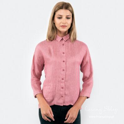 ELI różowa bluzka lniana.