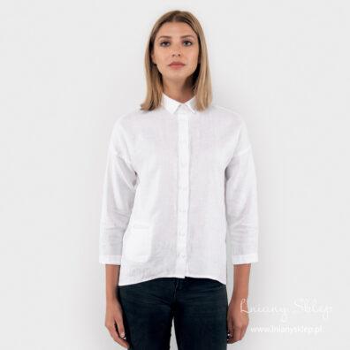 BIANCA biała bluzka lniana.