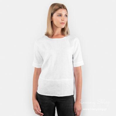 IBIZA biała bluzka lniana.