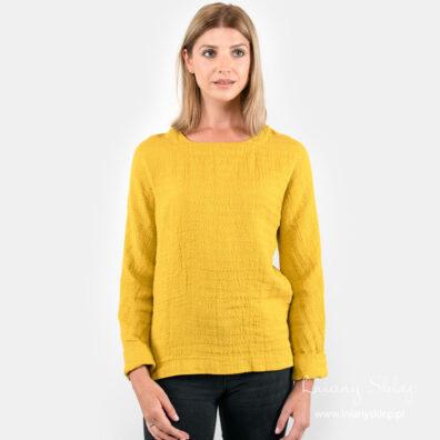 SARA żółta bluzka lniana.