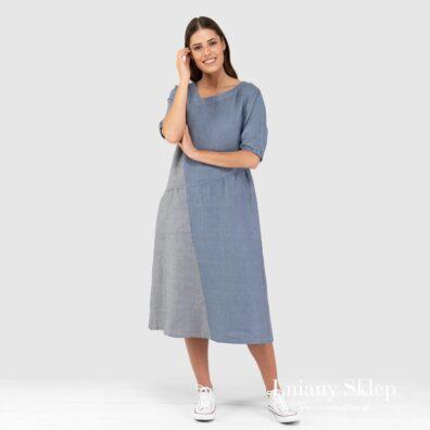 INDI niebieska sukienka.