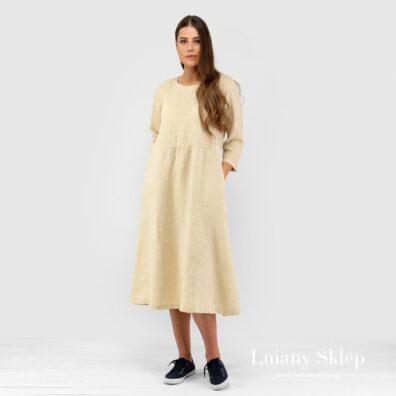 DELFINA żółta sukienka.