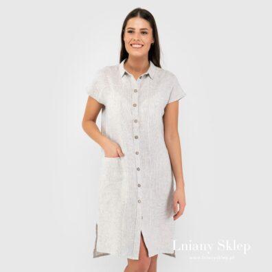 GINA biała sukienka.