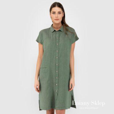 GINA zielona sukienka.
