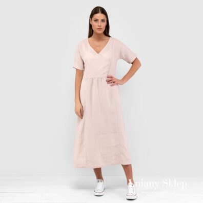 MELENA różowa sukienka.