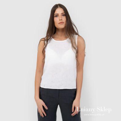 TATU biała bluzka lniana.