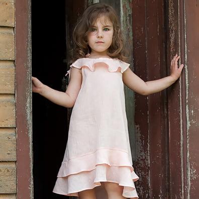 Lniane ubrania dla dziewczynek