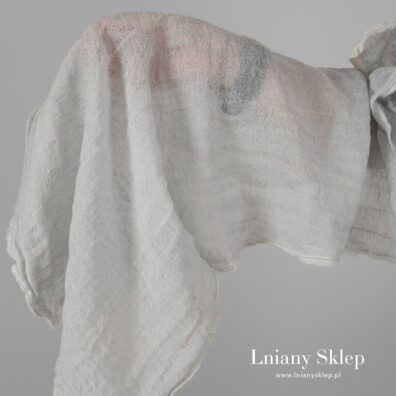 Tkanina prana odcień zieleń len z wełną.