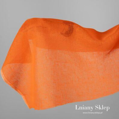 Przeźroczysta tkanina lniana pomarańczowa.